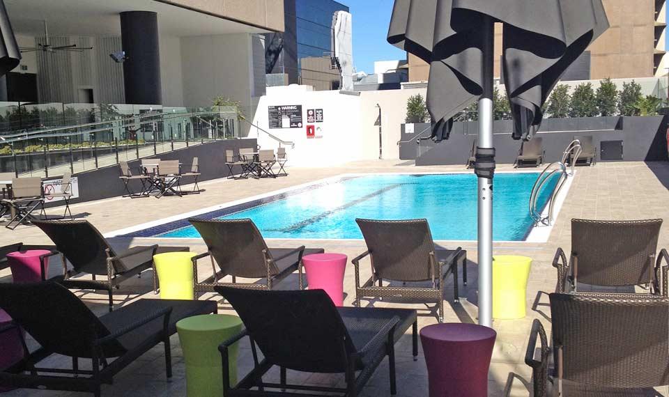 References Hilton Brisbane Hotel Myrtha Pools